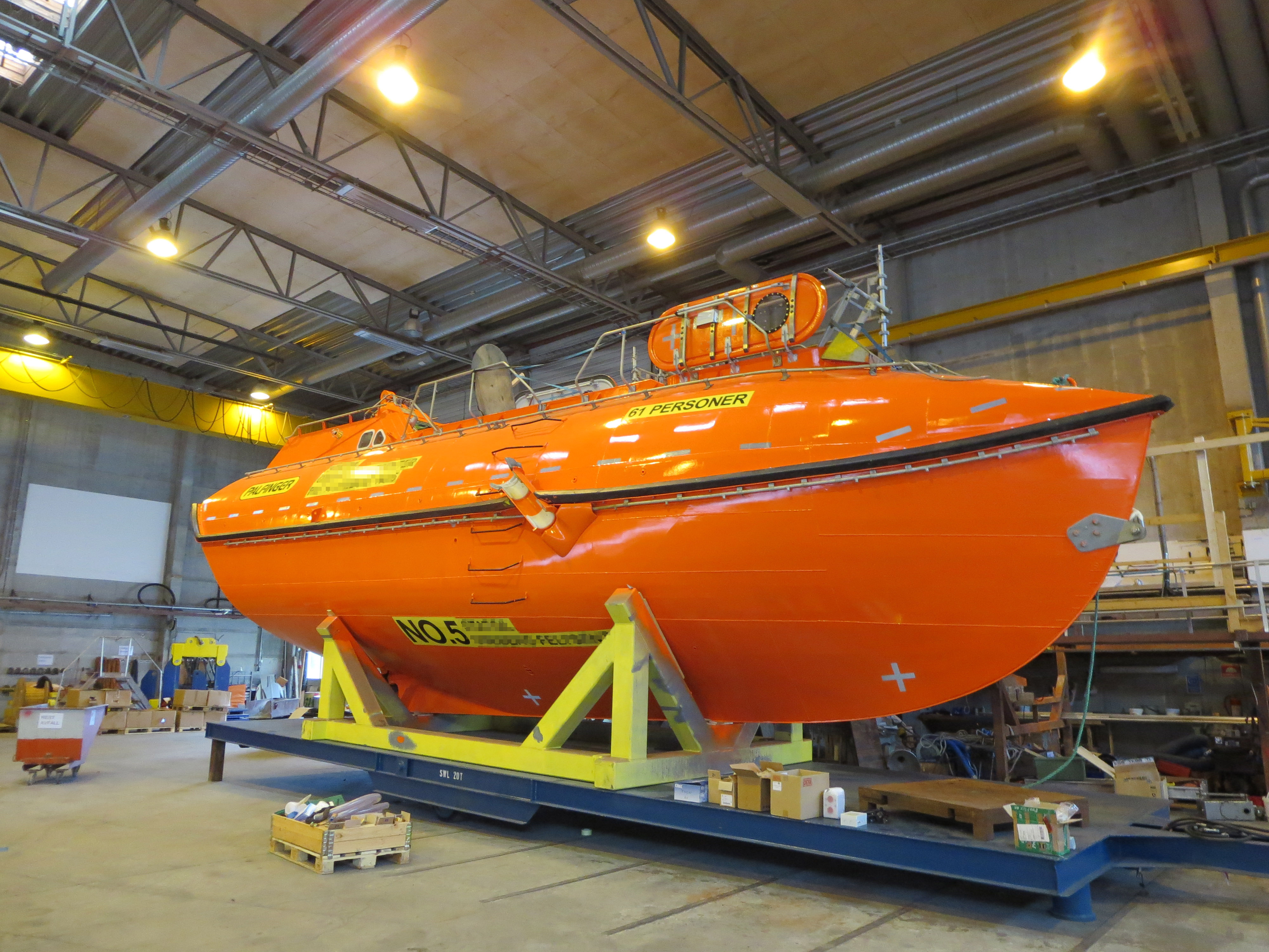 Lifeboat refurbishment
