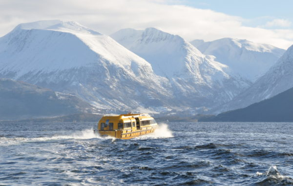 PALFINGERs tender boats take cruise expeditioners safely to the shore.
