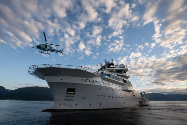 The scientific research vessel, OceanXplorer, sets sails to unravel the mysteries of the deep blue sea.