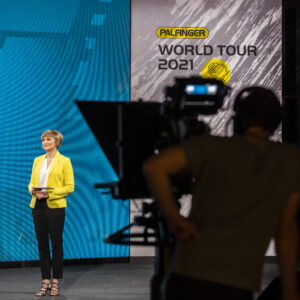 Marianna Evenstein hosting PALFINGER World Tour